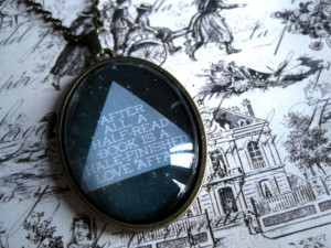 Cloud Atlas Cabochon Quote Necklace (David Mitchell). I'M GETTING THIS ...
