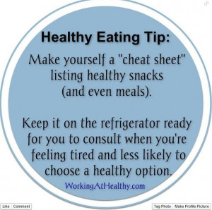 Healthy eating tips for snacks