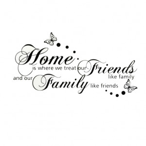 Details about Home Family Friends Quote Removable Vinyl Wall Stickers ...