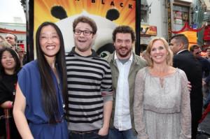 Jennifer Yuh Nelson, Seth Rogen, Danny McBride and Melissa Cobb in LOS ...
