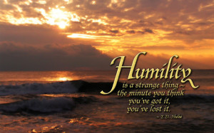 Wednesday's Word - Humility