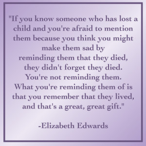 elizabeth edwards quotes losing a child
