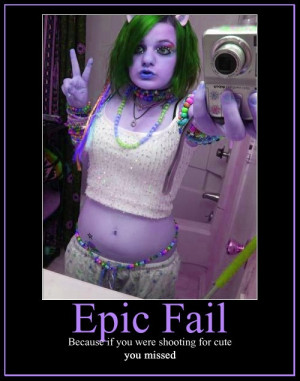 Epic Fail Emo Girl