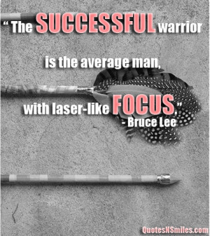 Be like a average man with laser like focus