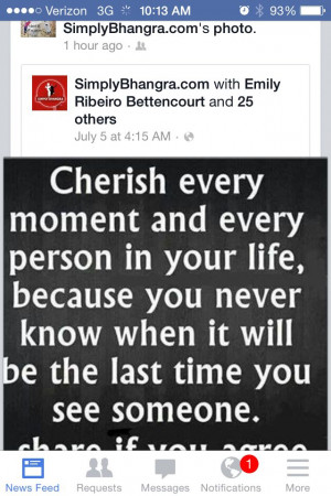 Cherish your loved ones