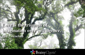 Love is the triumph...