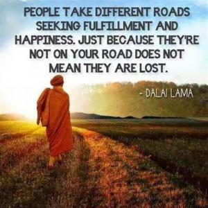 People take different roads seeking
