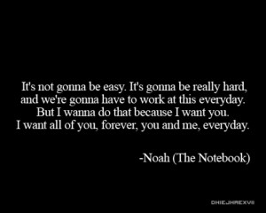 The Notebook quote~