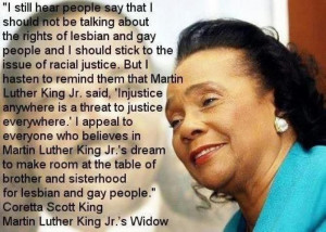 Coretta Scott King #BeingGayBecomingGray #equality #quotes https ...