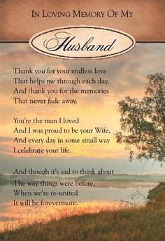 remembrance quotes for husband | Graveside Bereavement Memorial Cards ...