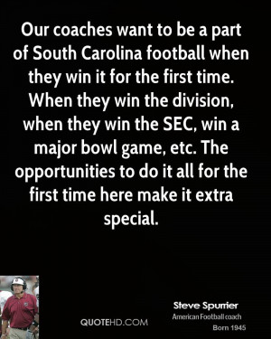 Our coaches want to be a part of South Carolina football when they win ...