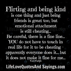 Flirting And Being Kind..