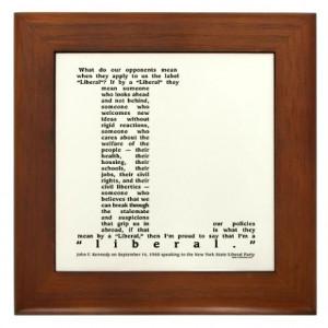 JFK Liberal Quote Framed Print