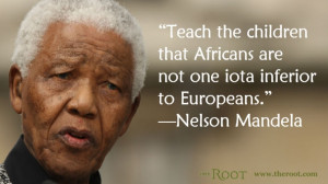 Quote of the Day: Nelson Mandela on African Children