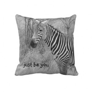 Cool Zebra Quote Throw Pillow--American MoJo *All of the gross profits ...