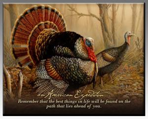 Wild Turkey Inspirational Wildlife Wall Plaque