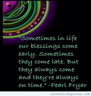 Pearl Fryar quote on blessings