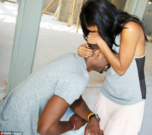 The magic moment: Gabrielle and Dwyane pictured after the proposal on ...