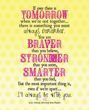 Free Winnie the Pooh Quote Printable in 2 color options {Celebrating ...