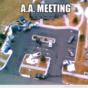 Funny Picture - Parking at an A.A. meeting