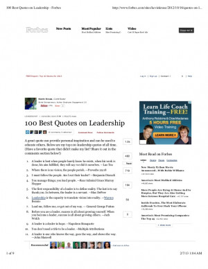 100 best quotes on leadership forbes