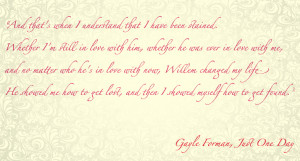 Quotes By Gayle Forman Just One Day