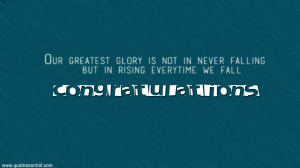 Essential Quotes: Congratulations Quotes