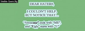 Dear Haters Facebook Cover