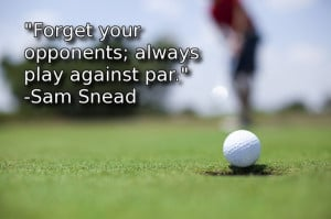 This is such a powerful golf philosophy to follow. Train your mind to ...
