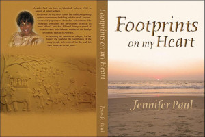 ... in 1943 to parents of mixed heritage footprints on my heart traces her