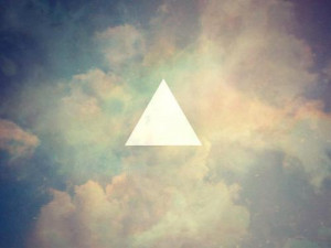 clouds, cute, hipster, sky, triangle, white