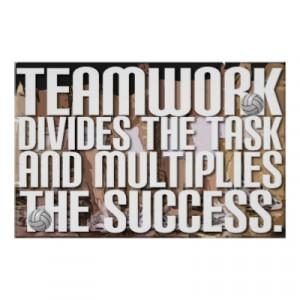 Team work multiplies success