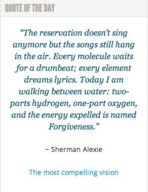 lesson from Sherman Alexie