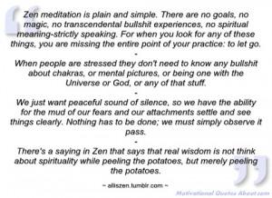 zen meditation is plain and simple alliszen
