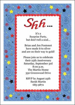 Surprise Anniversary Invitation Quotes Quotesgram