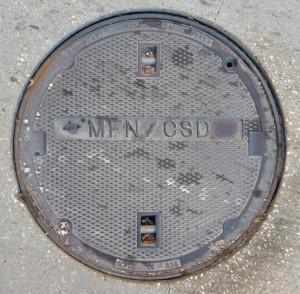 Metromedia Fiber Network Manhole Cover (Houston, TX)