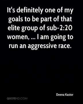 It's definitely one of my goals to be part of that elite group of sub ...