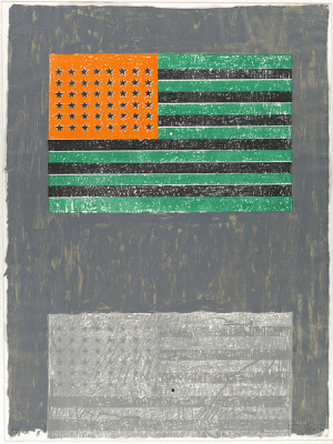 flags 1968 jasper johns american born 1930 lithograph with stamps 34 x ...