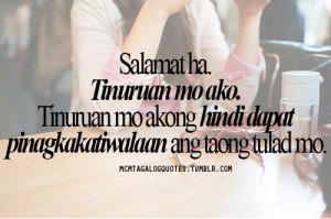 Mcm Tagalog Quotes Salamat...