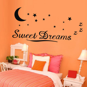 ebay hot sweet dreams art words with moon and stars vinyl Wall quote ...
