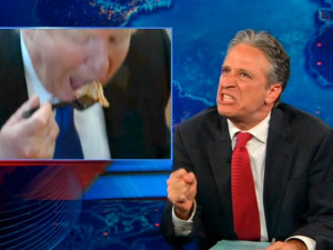 Worse than birthers Jon Stewart mocks Donald Trump for pathetic pizza