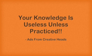 Put Your Knowledge To Work!! #Quotes