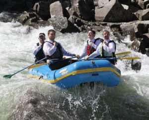 Funny picture #2972 tags: white water rafting serious business suits ...