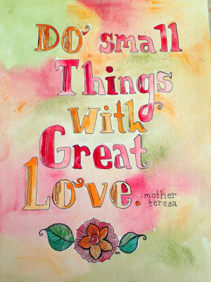 8x10 print mother teresa quote painting on Etsy, $12.00