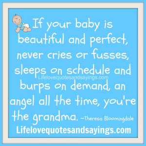 If your baby is beautiful and perfect, never cries or fusses, sleeps ...