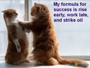 funny success quotes my formula for success is rise early work late ...