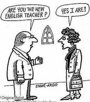 English Teacher Cartoon