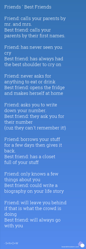 Smile Now Cry Never Quotes The best friendship quotes