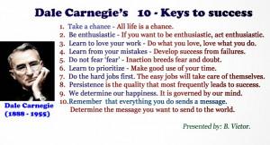 10 - Keys to success by Dale Carnegie (1888 - 1955)