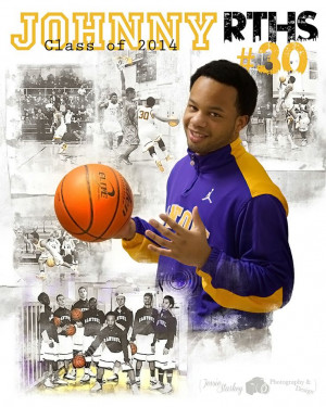 High School Basketball Poster Senior Night